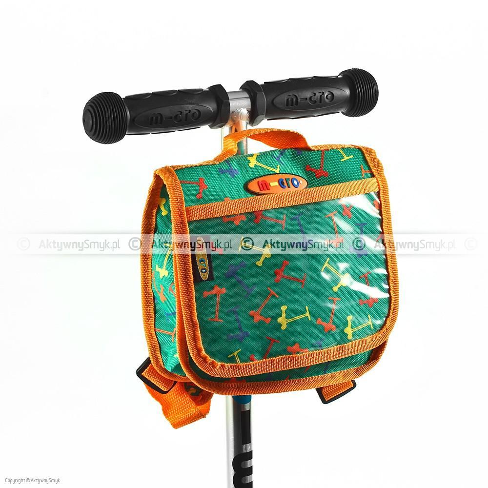 Plecaczek na hulajnogę Micro - zielono-pomarańczowy