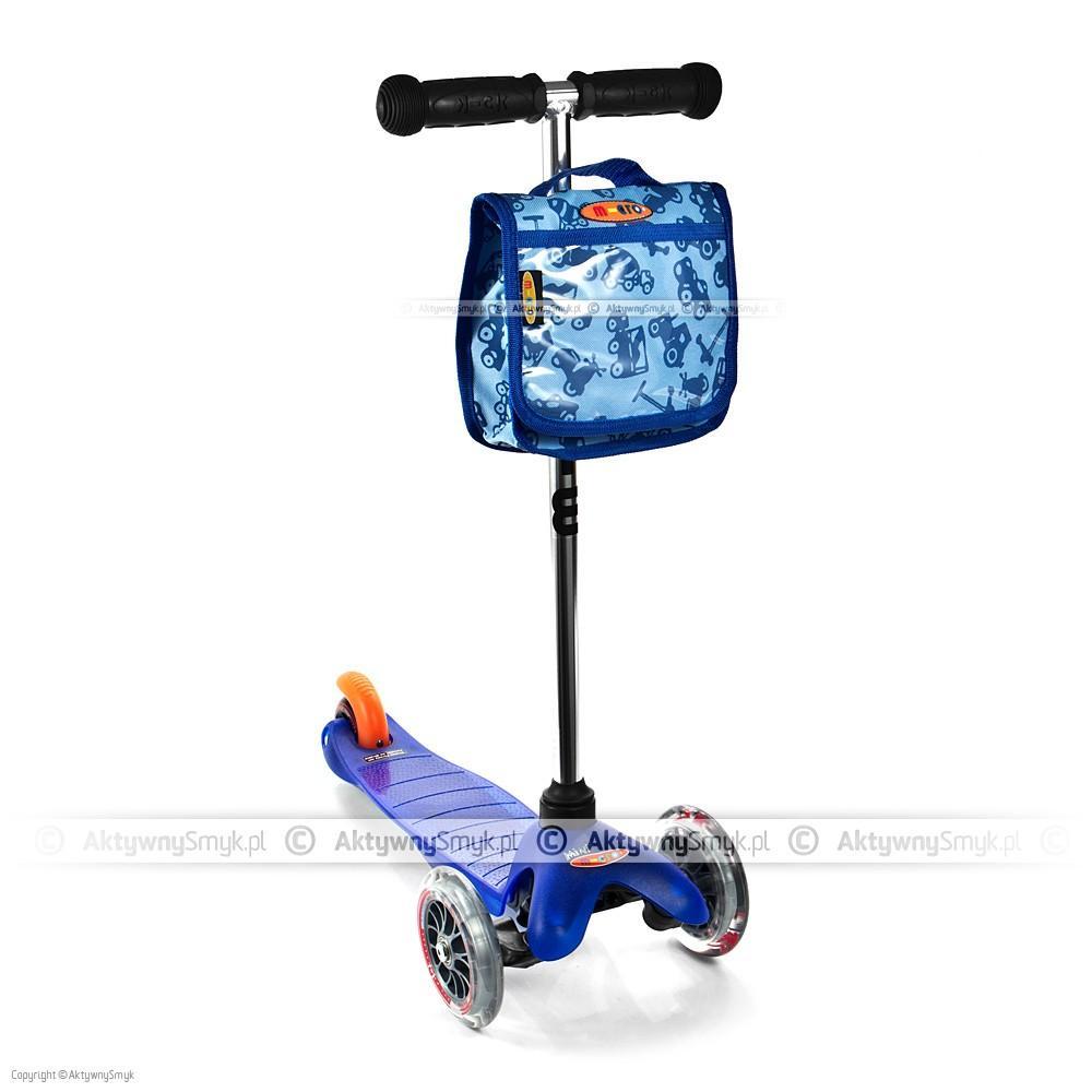 Hulajnoga Mini Micro niebieska z plecaczkiem