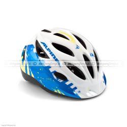 Kask rowerowy Alpina Gamma biało-niebiesko-seledynowy