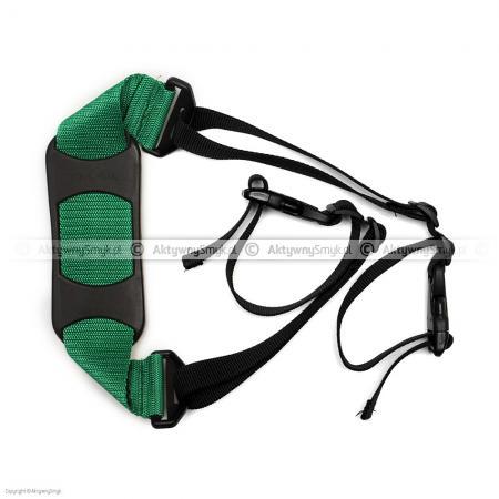 Pasek do noszenia rowerka biegowego lub hulajnogi zielony