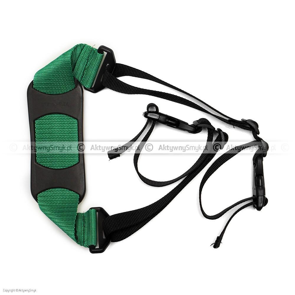 Pasek do noszenia rowerka albo hulajnogi zielony
