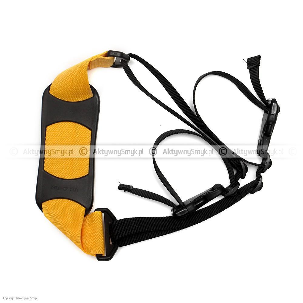 Pasek do noszenia rowerka albo hulajnogi żółty
