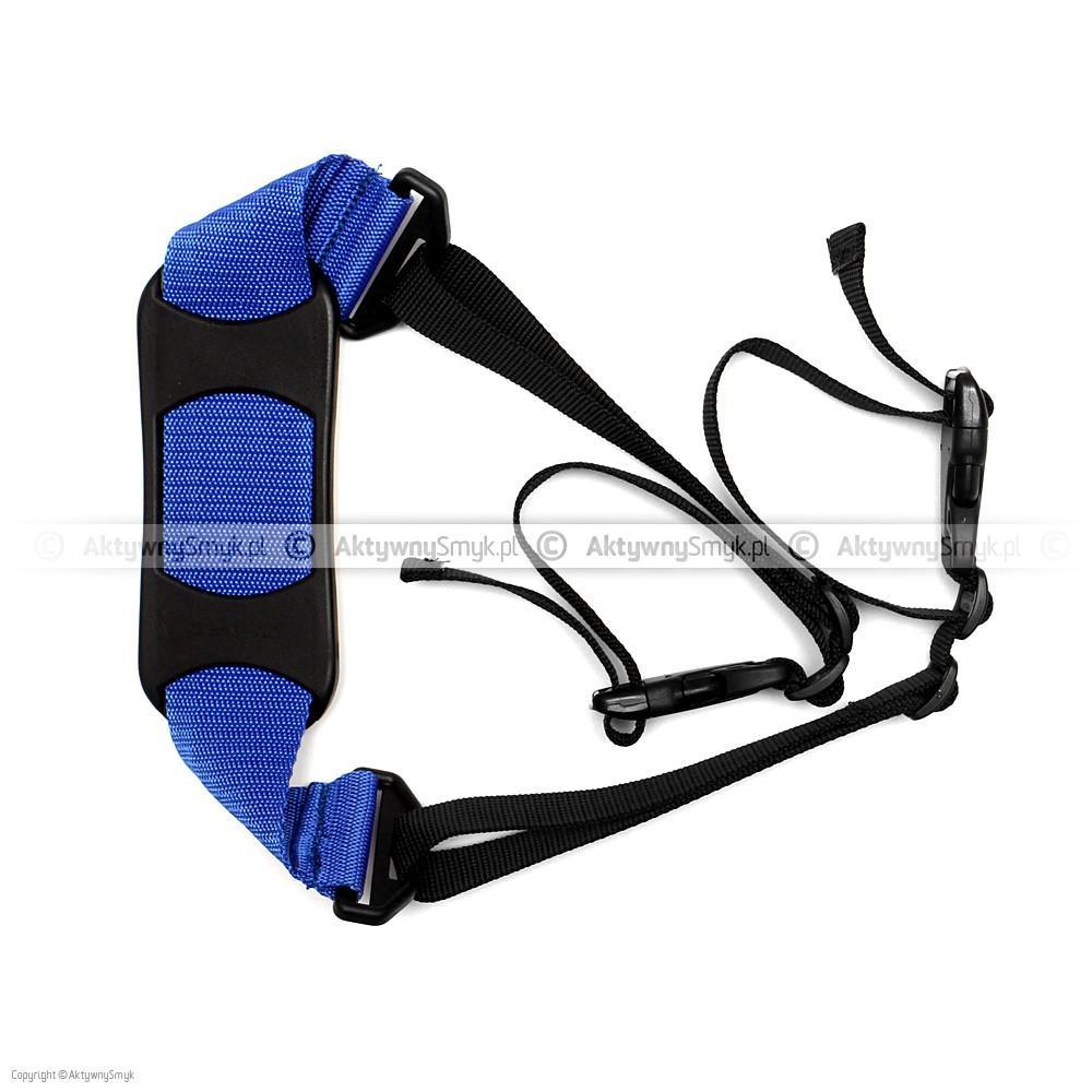 Pasek do noszenia rowerka biegowego lub hulajnogi niebieski