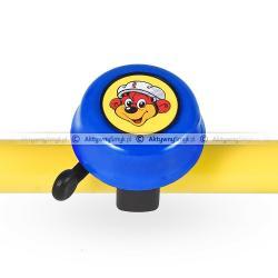 Dzwonek Puky niebieski na kierownicy
