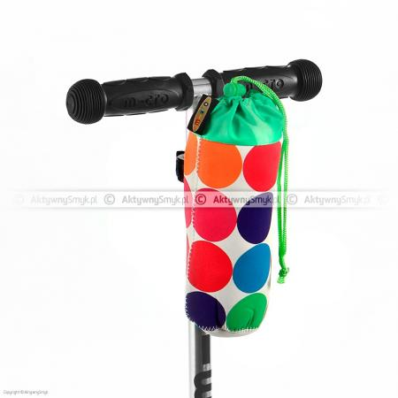 Torebka Micro na butelkę w kolorowe kropki