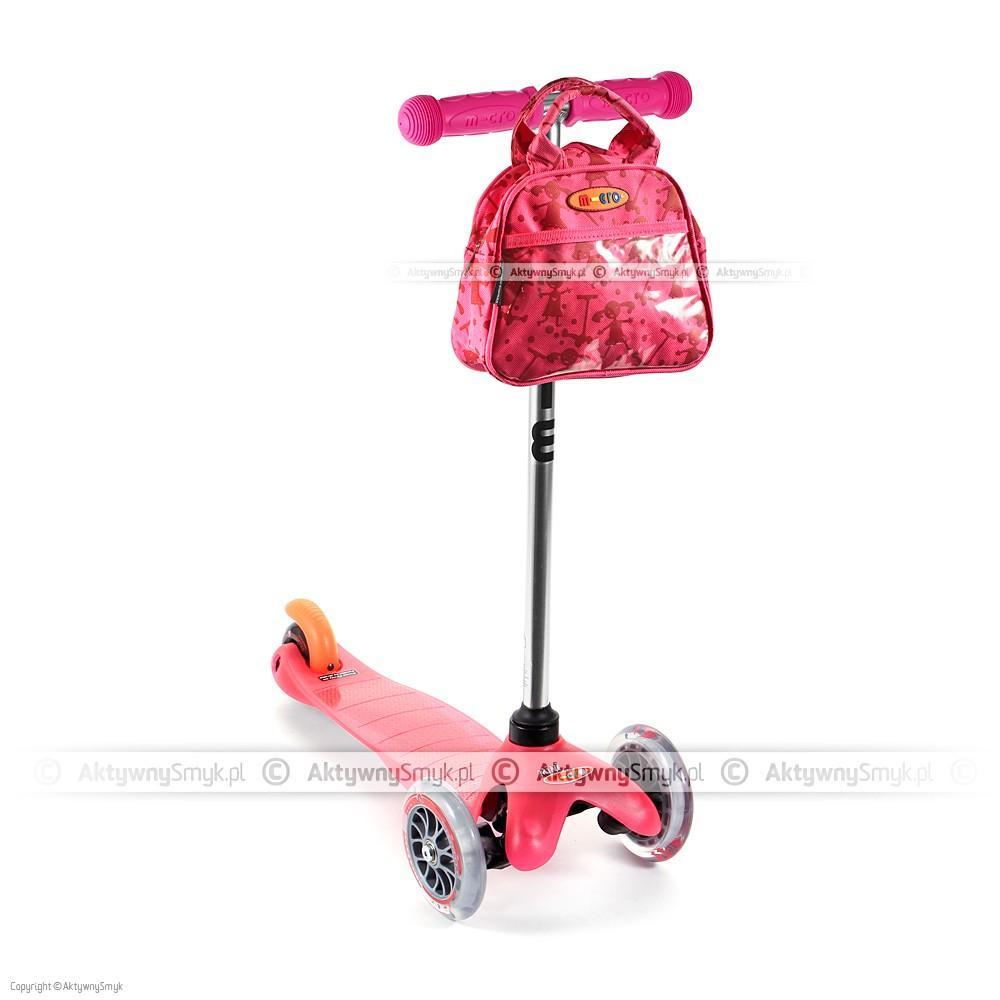 Hulajnoga Mini Micro LE różowa z różową torebką