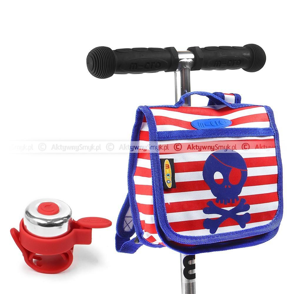 Plecak Micro Pirat i czerwony dzwonek