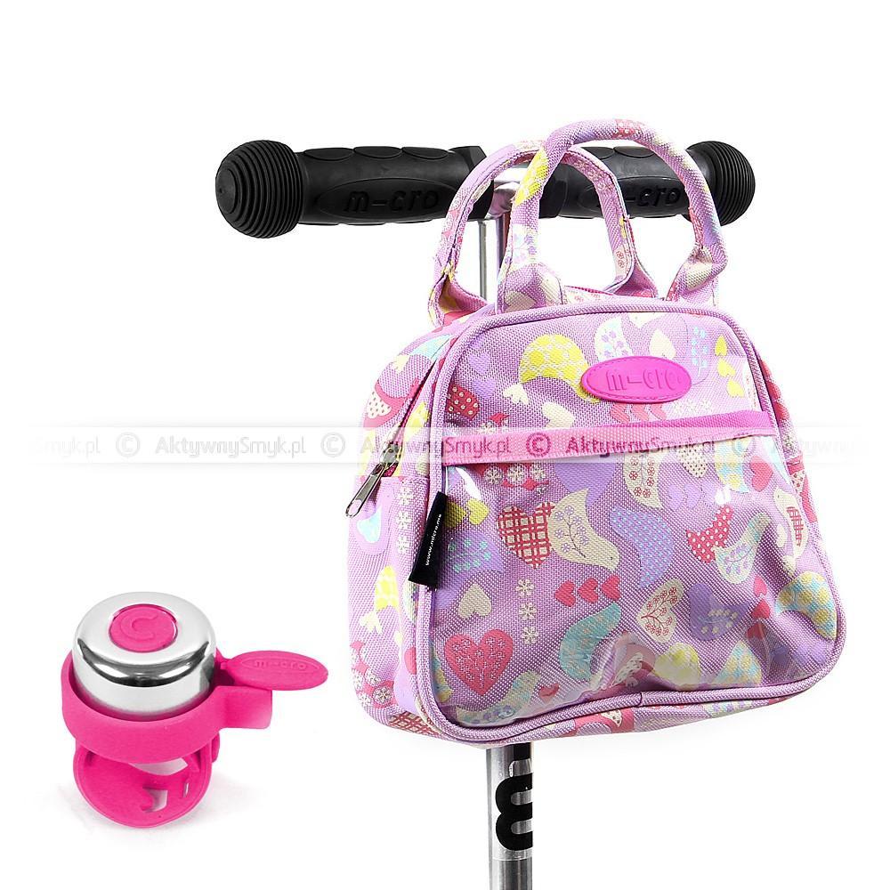 Torebka Micro Birdie i różowy dzwonek