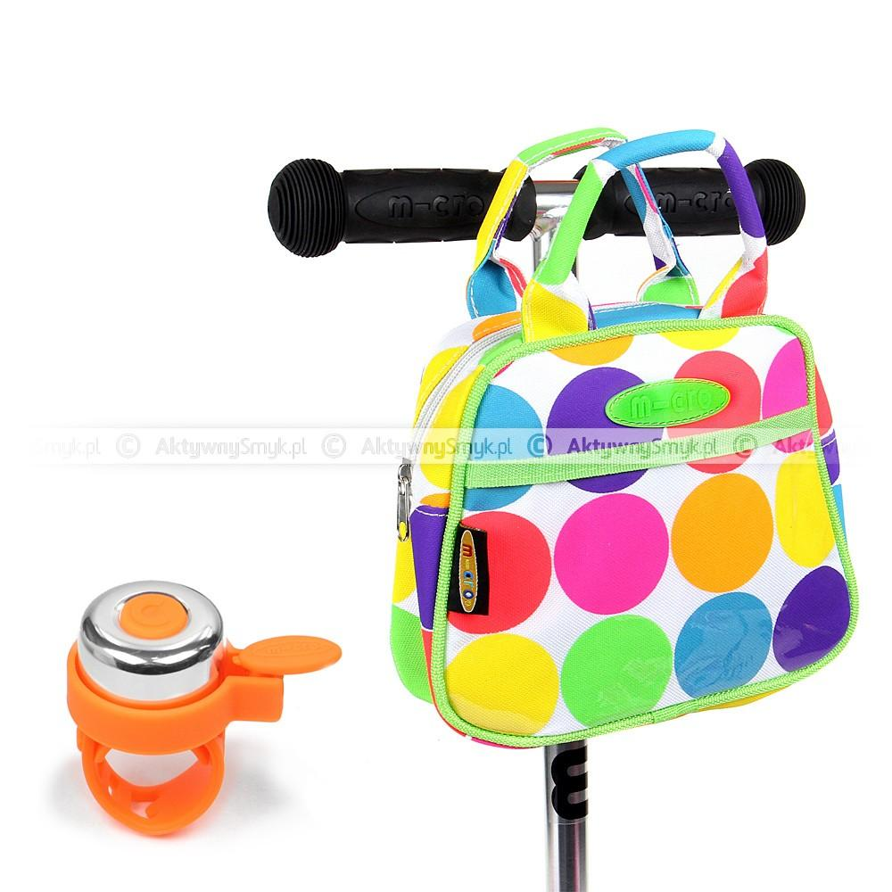 Torebka Micro Neon Dot i pomarańczowy dzwonek