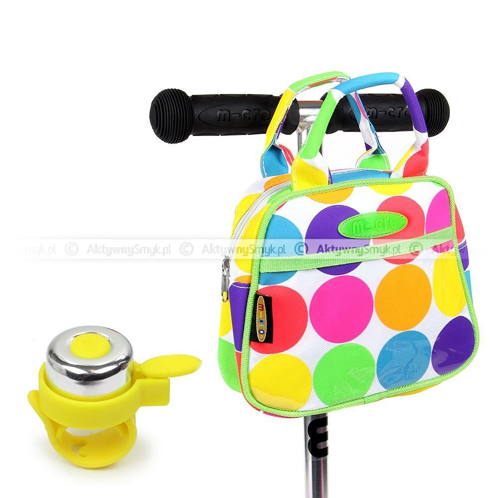 Torebka Micro Neon Dot i żółty dzwonek