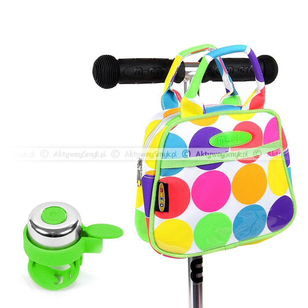 Torebka Micro Neon Dot i zielony dzwonek