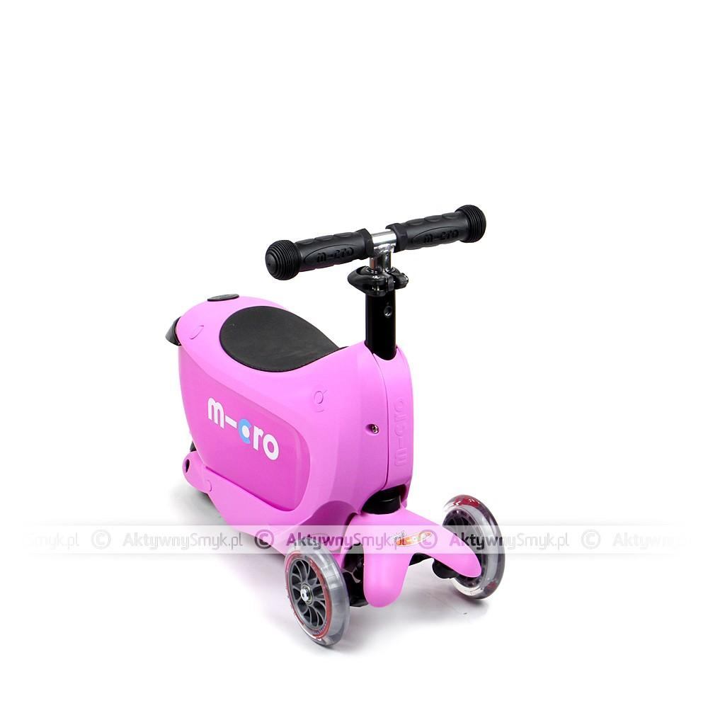 Micro Mini2Go Pink - jeździk i hulajnoga