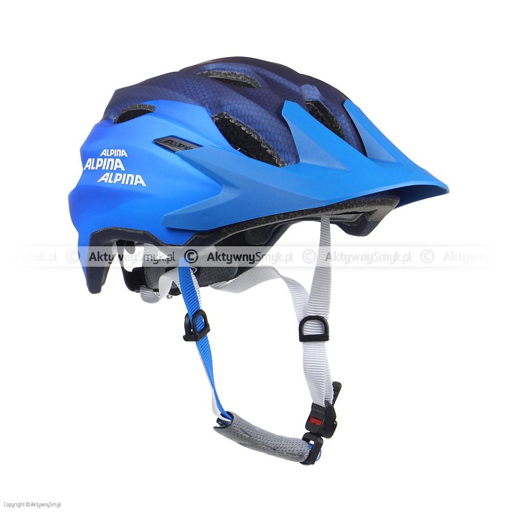 Kask Alpina Carapax Junior Flash Darkblue-Blue Metallic