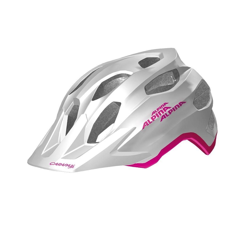 Kask dla dziecka Alpina Carapax Junior Flash White Pink