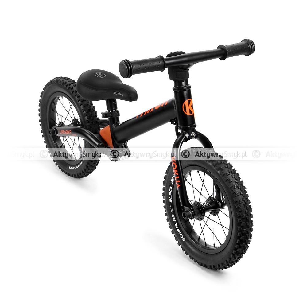 Cały czarny, amortyzowany rowerek biegowy LIKEaBIKE Jumper