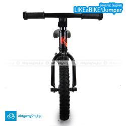 Czarny amortyzowany rowerek biegowy LIKEaBIKE Jumper