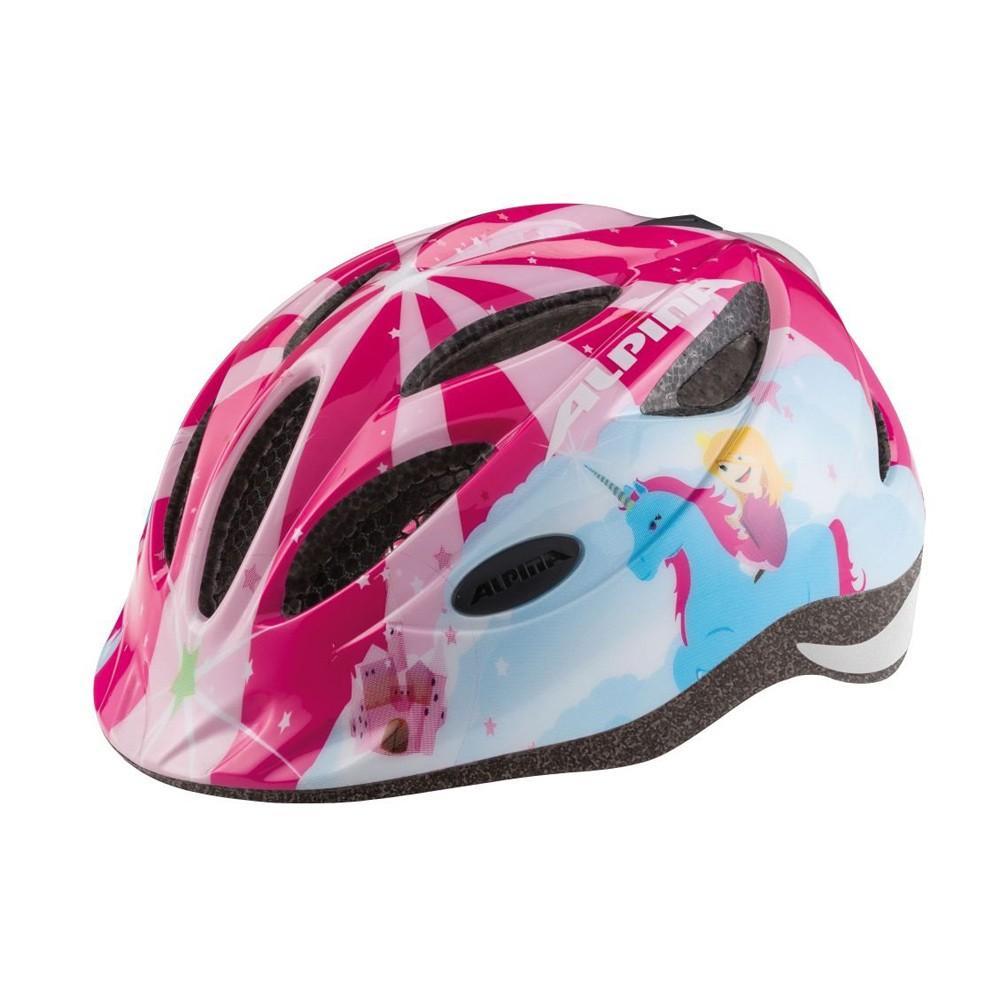 Kask rowerowy Alpina Gamma różowy z księżniczką