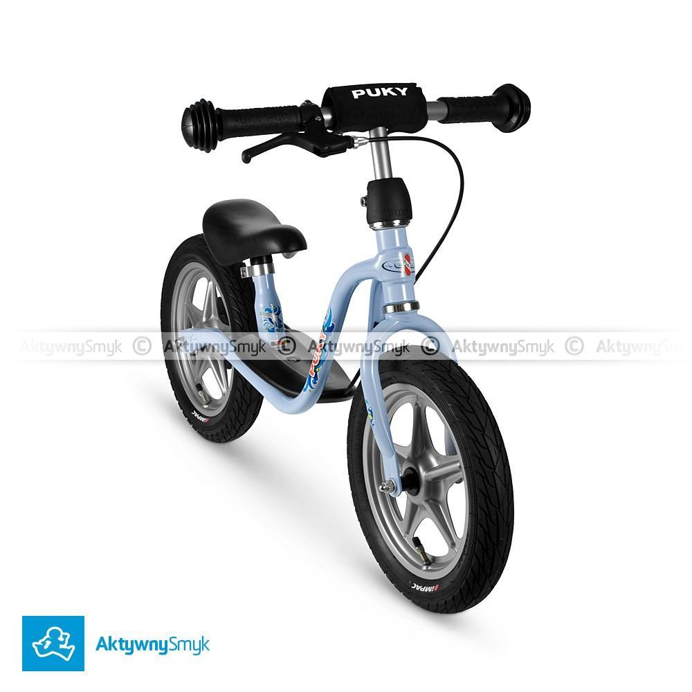 Rowerek biegowy Puky LR 1Br błękitny z hamulcem dla ponad 2 latka, wzrost ponad 90 cm