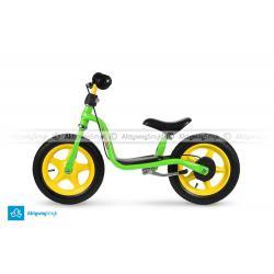 Zielony rowerek biegowy Puky LR 1L Br z hamulcem dla ponad dwulatka, wzrost ponad 90 cm