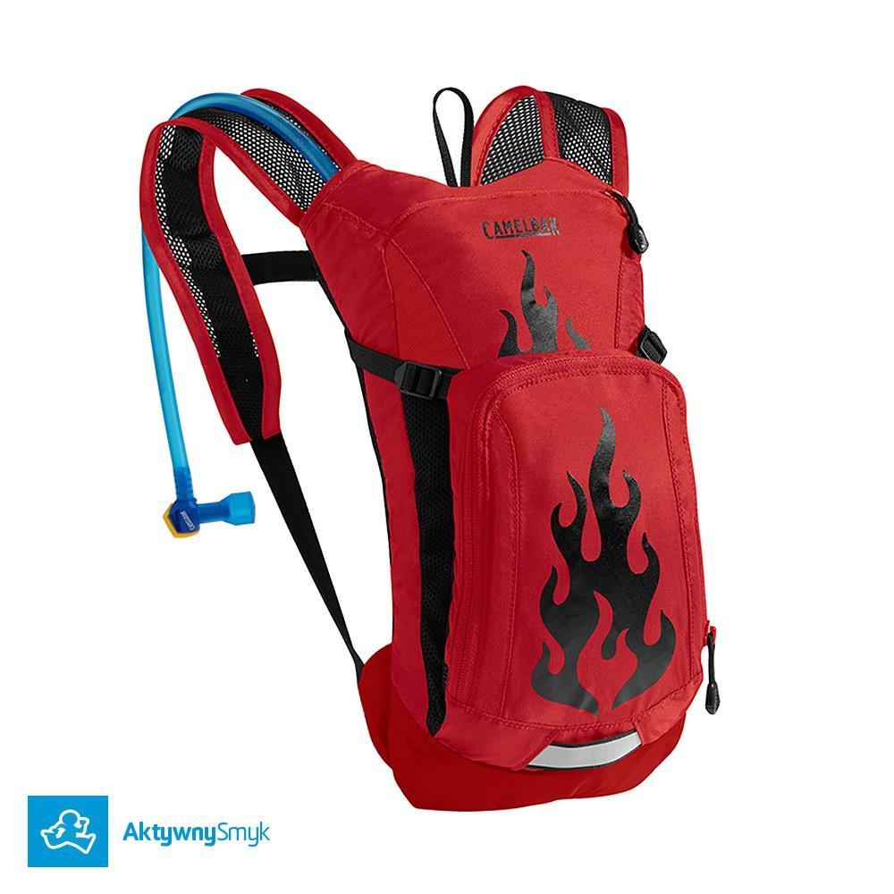 Plecak Camelbak Mini M.U.L.E. Barbados Cherry/Flames dla dziecka z bukłakiem
