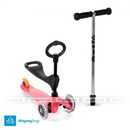 Mini Micro 3in1 (Baby Seat) - jeździk i hulajnoga Mini Micro różowa