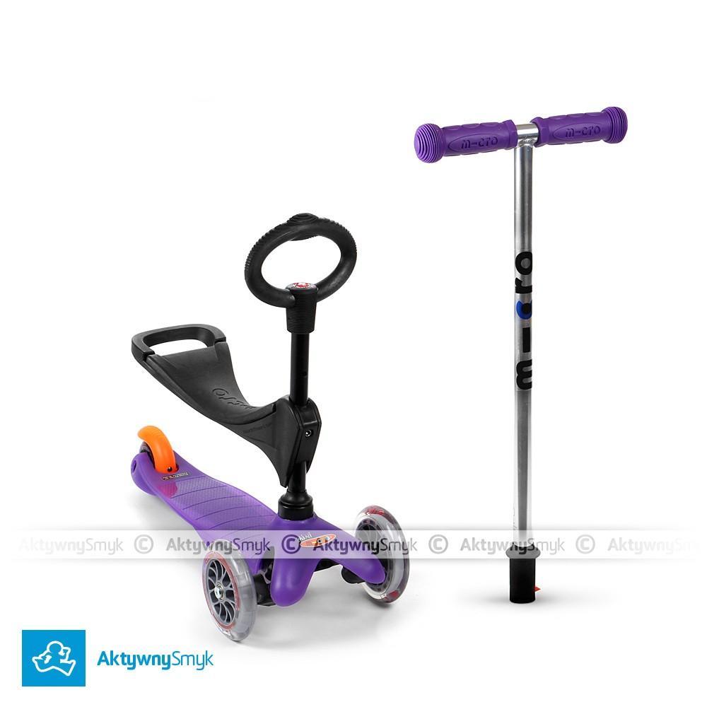 Fioletowy jeździk Mini Micro Baby Seat dla roczniaka
