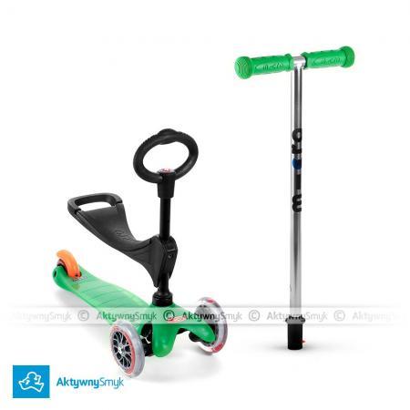 Mini Micro 3in1 (Baby Seat) - jeździk i hulajnoga Mini Micro zielona