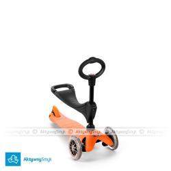 Pomarańczowy jeździk Mini Micro Baby Seat dla roczniaka