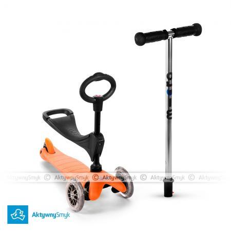 Mini Micro 3in1 (Baby Seat) - jeździk i hulajnoga Mini Micro pomarańczowa