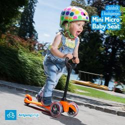 Jeździk pomarańczowy Mini Micro Baby Seat