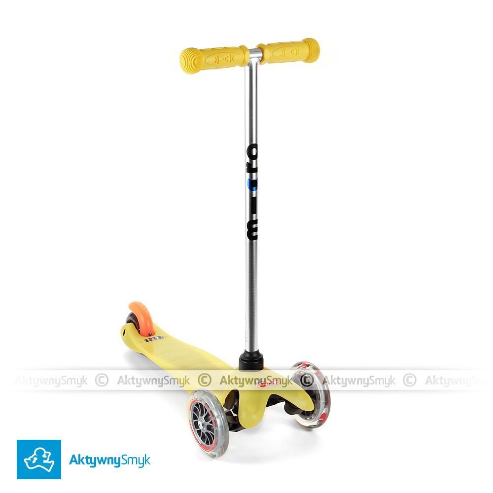 Żółta hulajnoga Mini Micro dla dwulatka