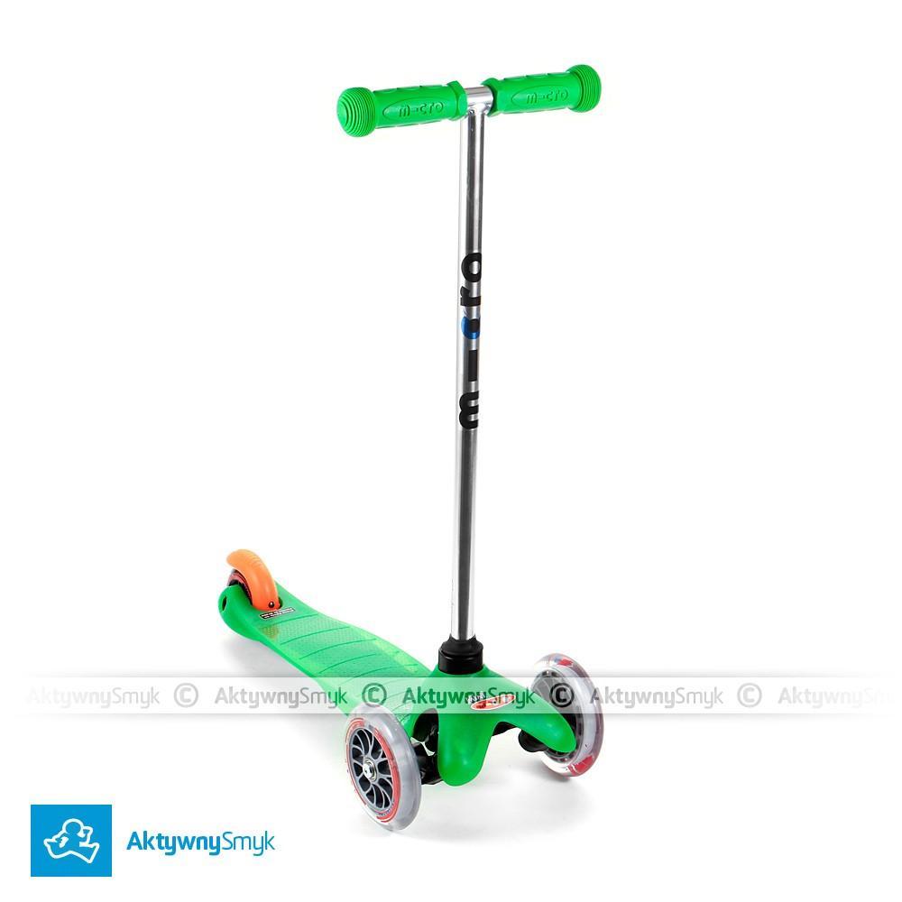 Zielona hulajnoga Mini Micro dla dwulatka