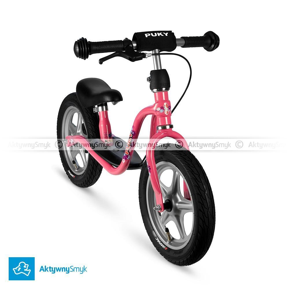 Rowerek biegowy Puky LR 1L różowy z hamulcem