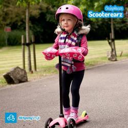Ocieplacze na kierownicę hulajnogi Mini lub Maxi Micro lub rowerka biegowego - Scooterearz różowe