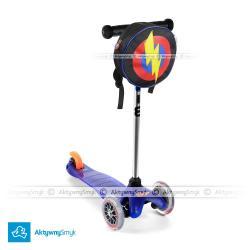 Hulajnoga Mini Micro niebieska + plecak Super Hero Bagz
