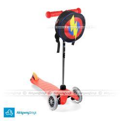 Hulajnoga Mini Micro czerwona + plecak Super Hero Bagz