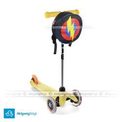 Hulajnoga Mini Micro żółta + plecak Super Hero Bagz