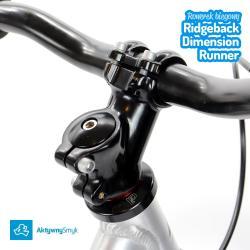 Aluminiowy wspornik kierownicy i stery ahead - duży rowerek biegowy Ridgeback Dimension Runner