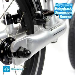 Szczotkowane aluminium - duży rowerek biegowy Ridgeback Dimension Runne
