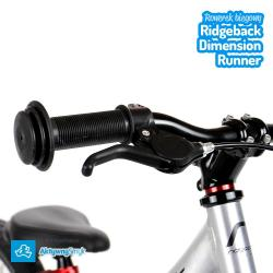 Mocny hamulec tylnego koła typu v-brake - duży rowerek biegowy Ridgeback Dimension Runner