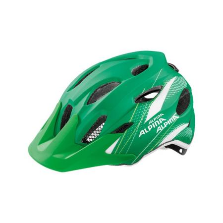 Kask dla dziecka Alpina Carapax Junior Flash Green White