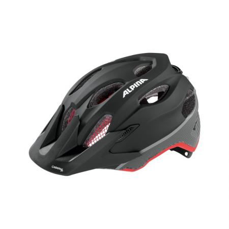 Kask Alpina Carapax Junior Flash black-red-darksilver
