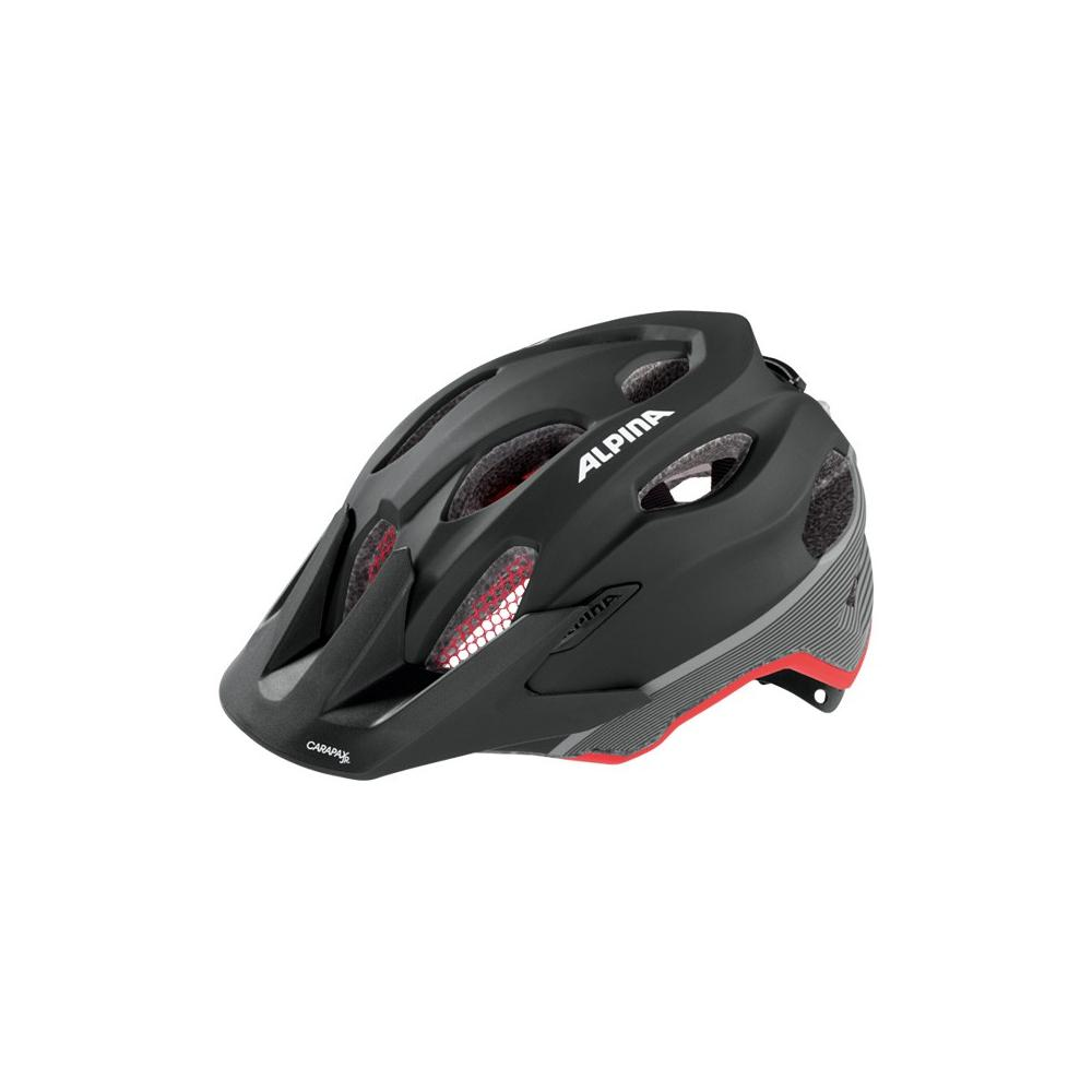 Kask Alpina Carapax Junior Flash black-red-darksilver