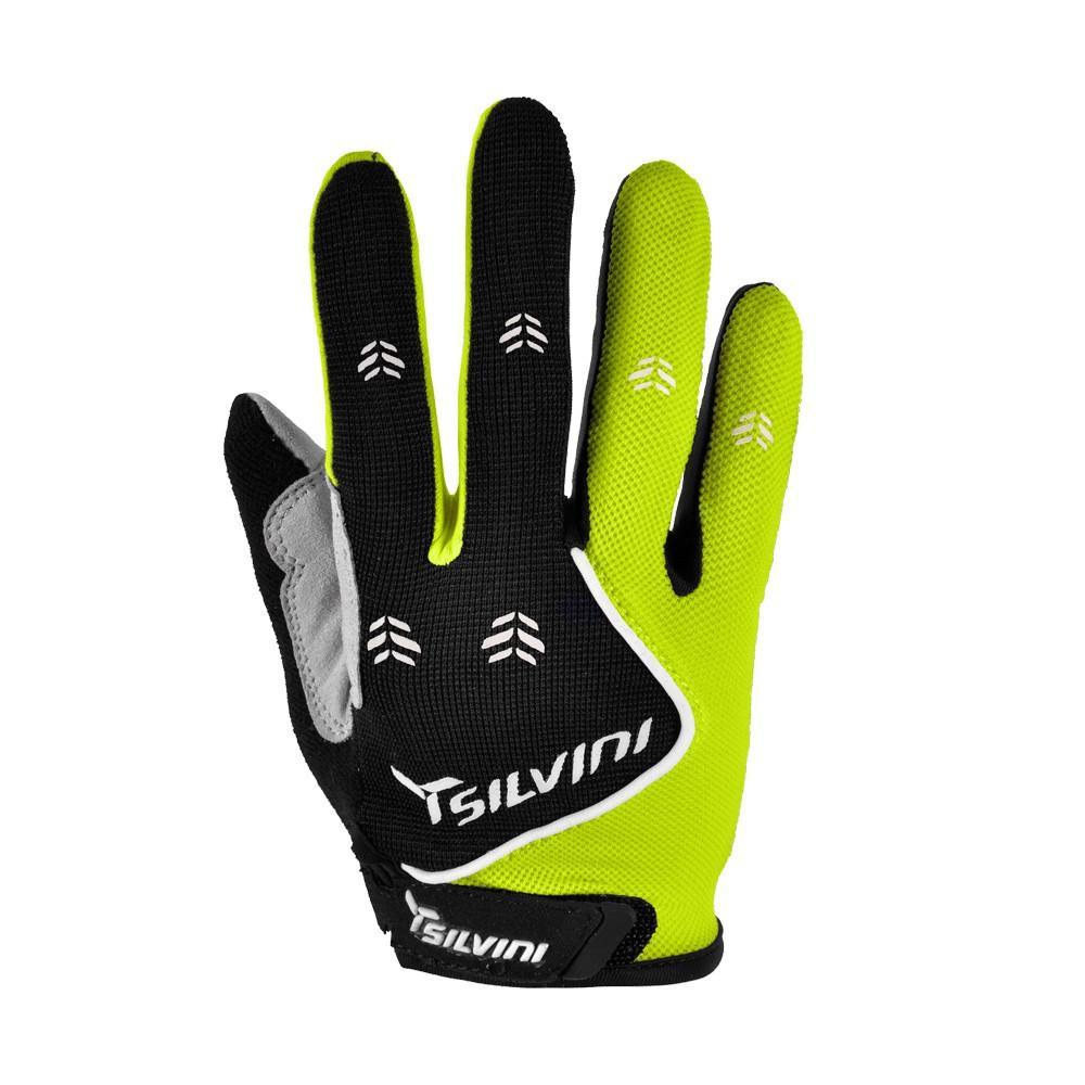 Rękawiczki Silvini Barrata Black-Lime Green