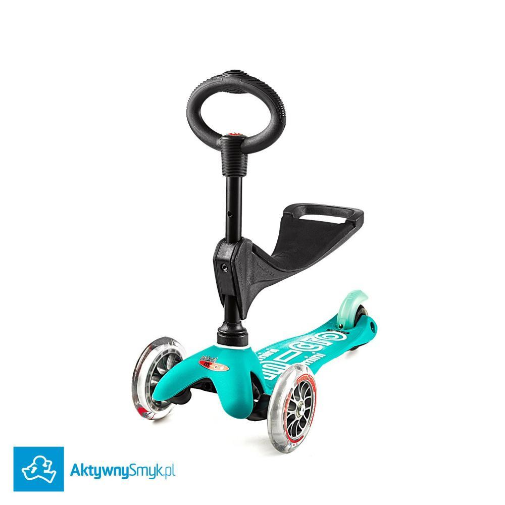 Mini Micro 3in1 Deluxe Aqua - jeździk i hulajnoga Mini Micro Deluxe