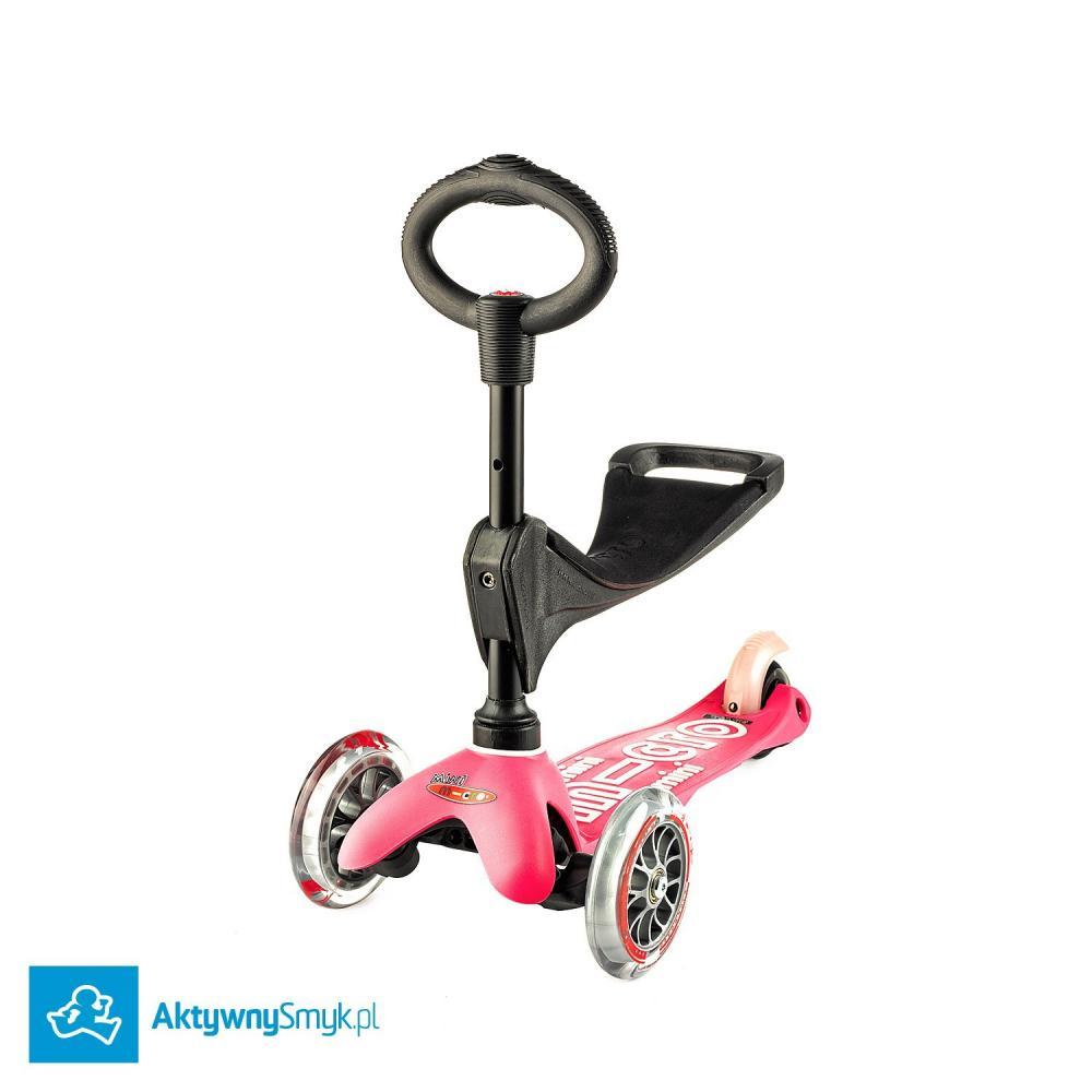 Różowa Mini Micro 3in1 Deluxe - jeździk i hulajnoga Mini Micro Deluxe
