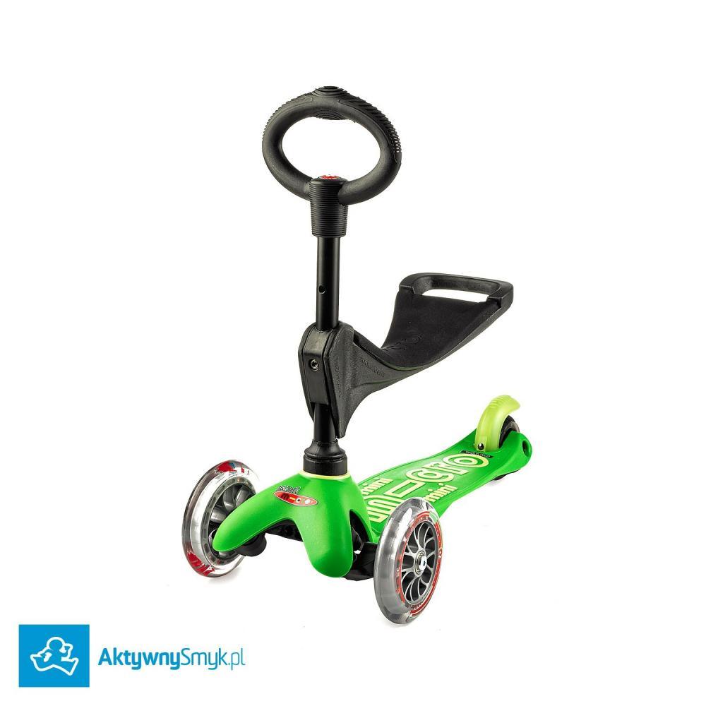 Zielona Mini Micro 3in1 Deluxe - jeździk i hulajnoga Mini Micro Deluxe