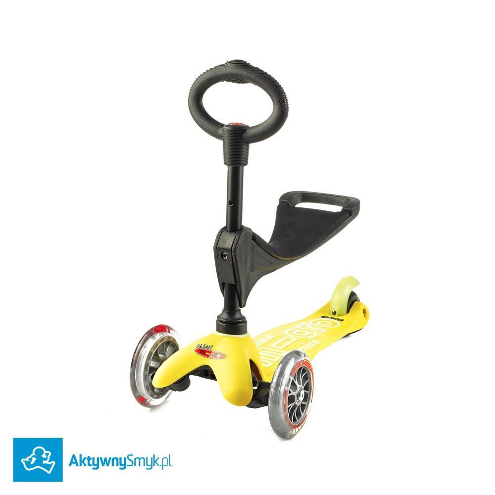 Żółta Mini Micro 3in1 Deluxe - jeździk i hulajnoga Mini Micro Deluxe