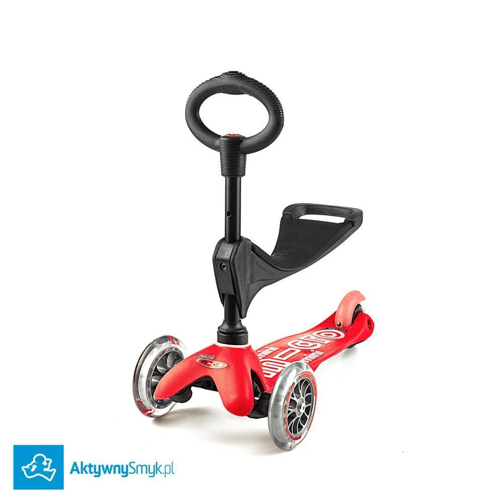 Czerwona Mini Micro 3in1 Deluxe - jeździk i hulajnoga Mini Micro Deluxe