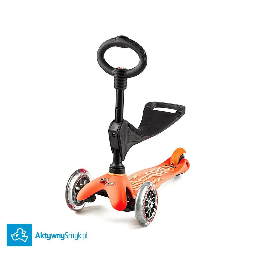 Pomarańczowa Mini Micro 3in1 Deluxe - jeździk i hulajnoga Mini Micro Deluxe
